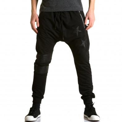 Pantaloni baggy bărbați Jack Davis negri ca190116-21 2