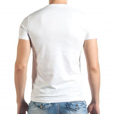 Tricou bărbați Just Relax alb il140416-36 3