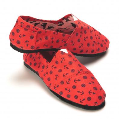 Espadrile bărbați Kruger roșie il140616-6 3