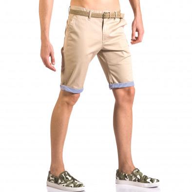 Pantaloni scurți bărbați Baci & Dolce bej ca050416-57 4