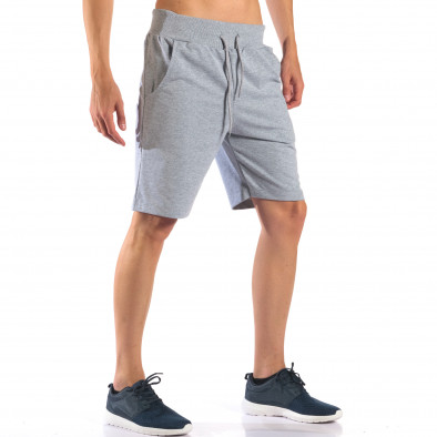 Pantaloni scurți bărbați Social Network gri it160616-8 4