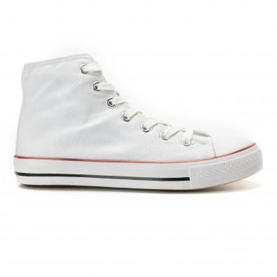Teniși înalți albi model clasic pentru bărbați it260117-44 2