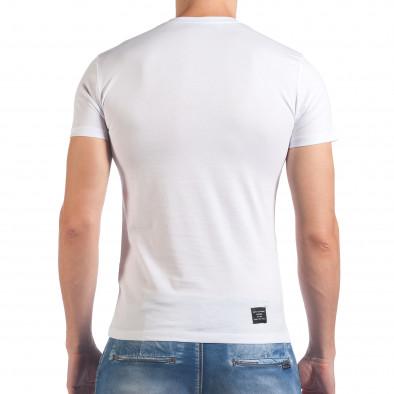 Tricou bărbați SAW alb il060616-28 3