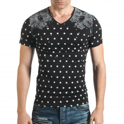Tricou bărbați Lagos negru il140416-59 2