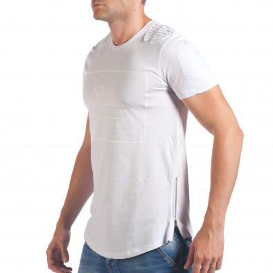 Tricou bărbați SAW alb il060616-24 4