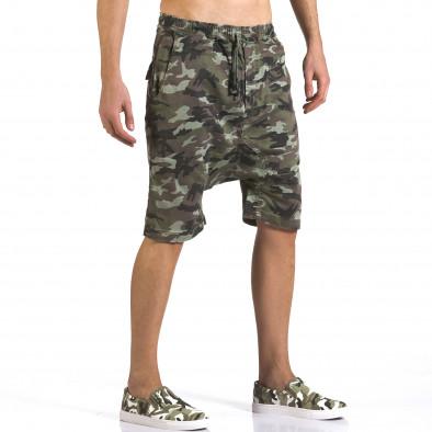Pantaloni scurți bărbați Iabes Jeans camuflaj it110316-73 4