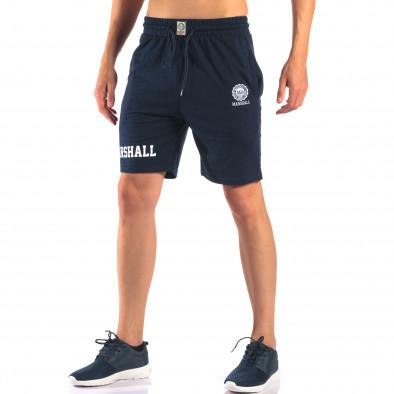Pantaloni scurți bărbați Marshall albaștri it160616-3 4
