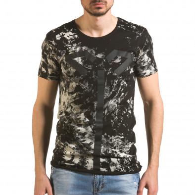 Tricou bărbați 2Y Premium negru tsf060416-2 2
