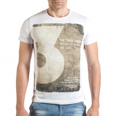 Tricou bărbați Just Relax alb il140416-35 2