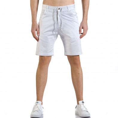 Pantaloni scurți bărbați Marshall albi it110316-37 2