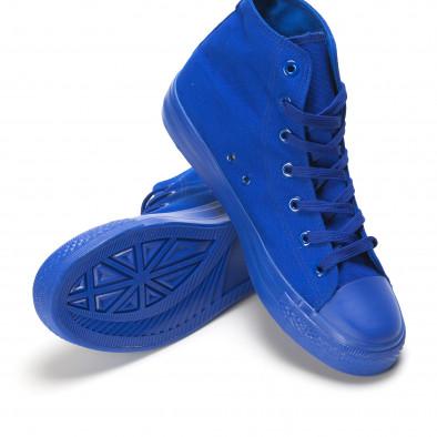Teniși înalți albaștri pentru bărbați it090616-29 4