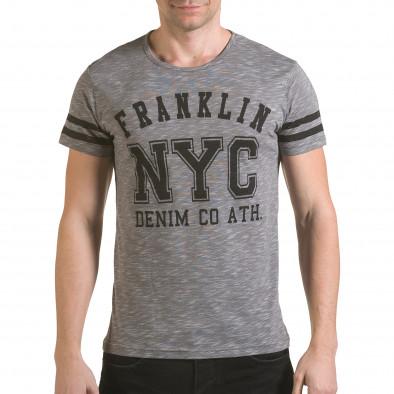 Tricou bărbați Franklin gri il170216-4 2