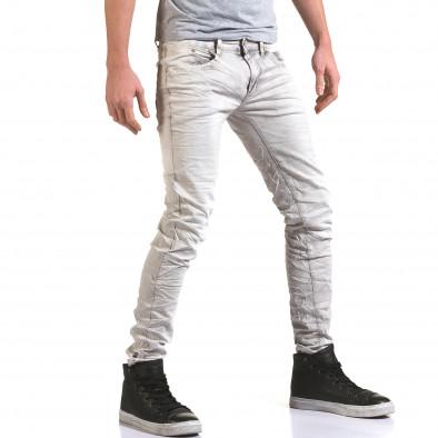 Pantaloni bărbați Leeyo Jeans gri it090216-22 4
