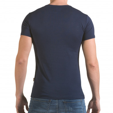 Tricou bărbați Click Bomb albastru il170216-86 3