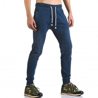 Pantaloni baggy bărbați Enos albaștri it090216-56 4