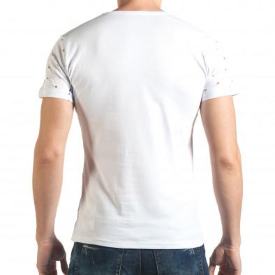 Tricou bărbați Lagos alb il140416-57 3