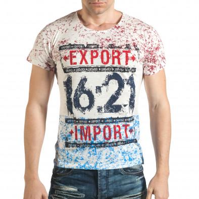 Tricou bărbați Lagos alb il140416-61 2