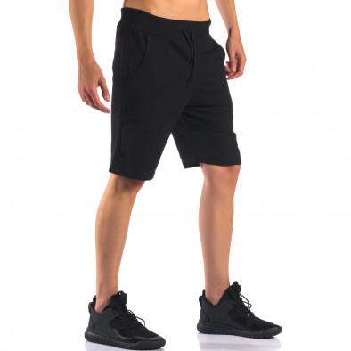 Pantaloni scurți bărbați Social Network negri it160616-11 4