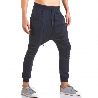 Pantaloni baggy bărbați Devil Slayer albaștri ca050416-50 4