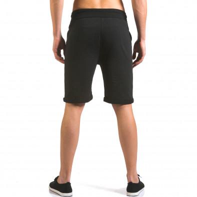 Pantaloni scurți bărbați Vestiti Delle Nuvole negri it160316-27 3