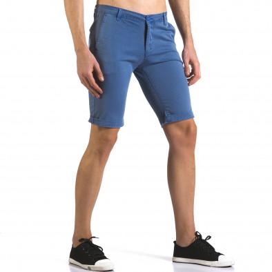 Pantaloni scurți bărbați Bruno Leoni albaștri it110316-46 4