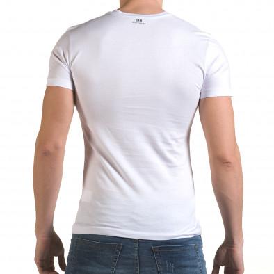 Tricou bărbați SAW alb il170216-65 3