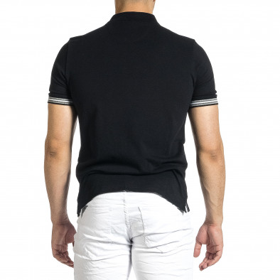 Tricou cu guler bărbați Baker's negru it150521-18 4