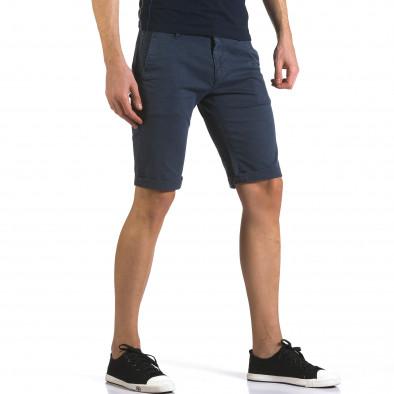 Pantaloni scurți bărbați Bruno Leoni albaștri it110316-49 4