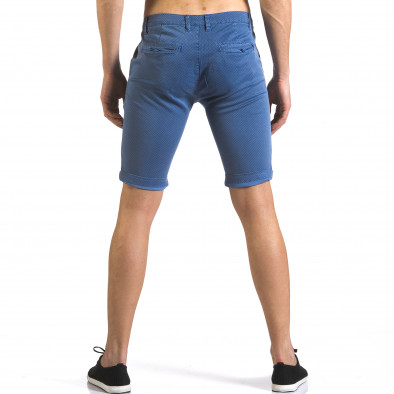 Pantaloni scurți bărbați Bruno Leoni albaștri it110316-46 3