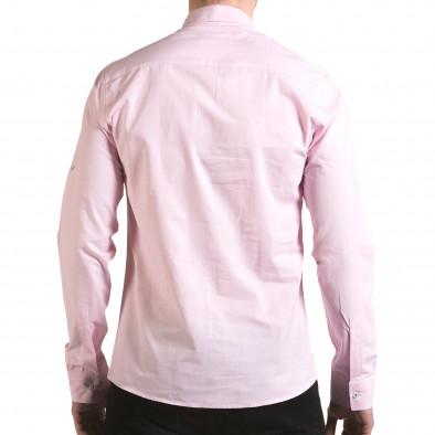 Cămașă cu mânecă lungă bărbați Buqra roz il170216-111 3