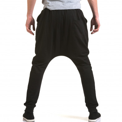 Pantaloni baggy bărbați Dress&GO negri it090216-35 3