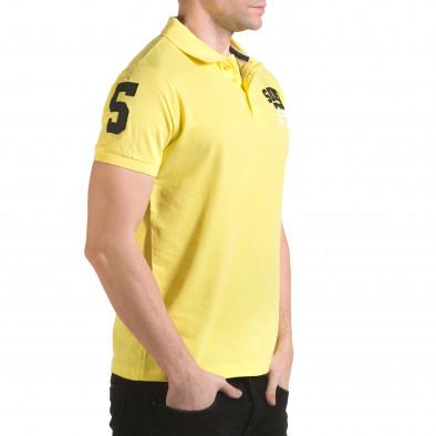 Tricou cu guler bărbați Franklin galben il170216-22 4