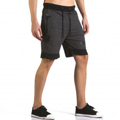 Pantaloni scurți bărbați Furia Rossa negri it110316-78 4
