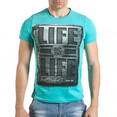 Tricou bărbați Just Relax albastru il140416-43 2