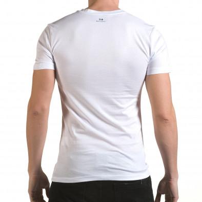 Tricou bărbați SAW alb il170216-44 3