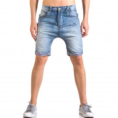 Blugi scurți bărbați Always Jeans albaștri ca050416-69 2