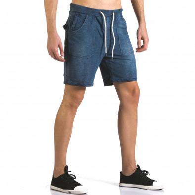 Pantaloni scurți bărbați Bread & Buttons albaștri it110316-79 4