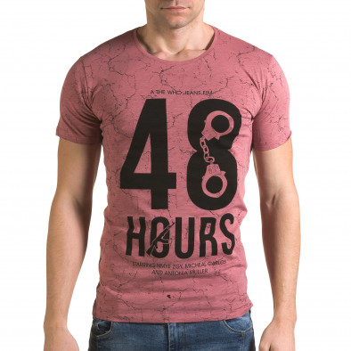 Tricou bărbați Lagos roz il120216-6 2
