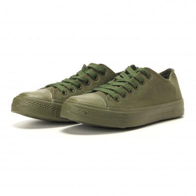 Teniși în verde militar pentru bărbați it260117-33 3