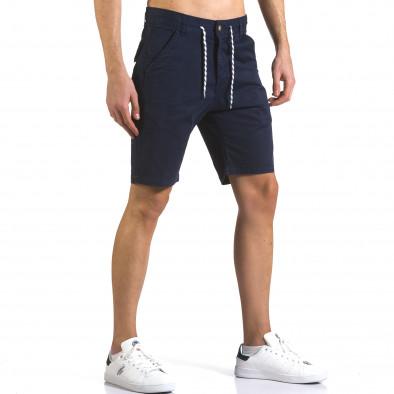 Pantaloni scurți bărbați Marshall albaștri it110316-41 4