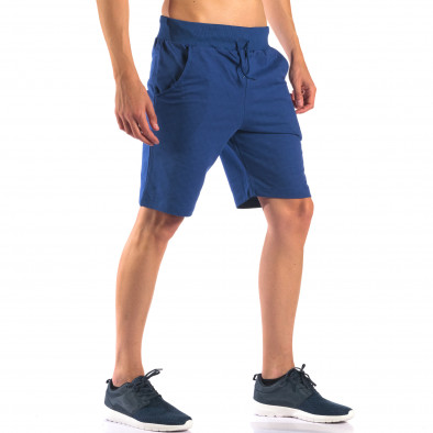 Pantaloni scurți bărbați Social Network albaștri it160616-7 4