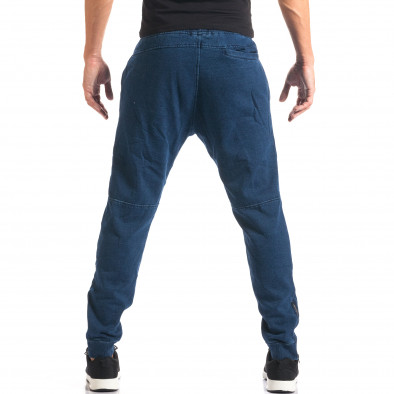 Pantaloni baggy bărbați Bread & Buttons albaștri it160816-35 3