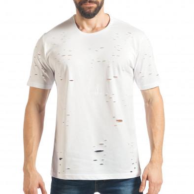 Tricou bărbați Black Island alb tsf020218-30 2