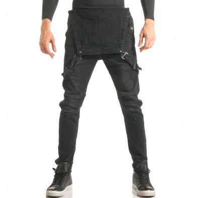 Salopetă de blugi bărbați Always Jeans negri it181116-62 2