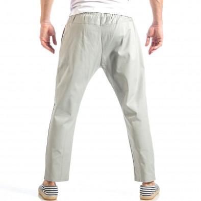 Pantaloni pentru bărbați gri cu talie elastica it040518-18 4