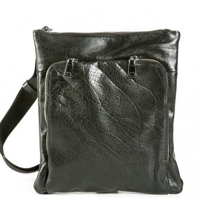 Geanta de umar Fashionmix neagră bărbați 1236-black 2