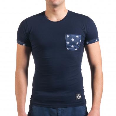 Tricou bărbați SAW albastru il010416-2 2