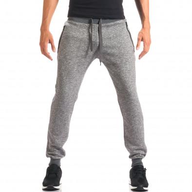 Pantaloni sport bărbați New Mentality gri it160816-26 2