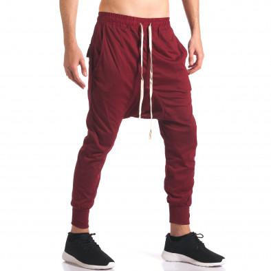 Pantaloni baggy bărbați Hancity roșii it250416-4 4