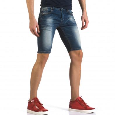 Blugi scurți bărbați Flex Style albaștri it110316-61 4